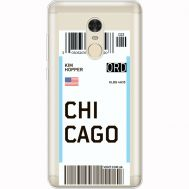 Силиконовый чехол BoxFace Xiaomi Redmi Note 4x Ticket Chicago (35032-cc82)