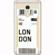 Силиконовый чехол BoxFace Xiaomi Redmi Note 4x Ticket London (35032-cc83)