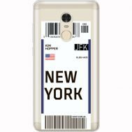 Силиконовый чехол BoxFace Xiaomi Redmi Note 4x Ticket New York (35032-cc84)