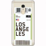 Силиконовый чехол BoxFace Xiaomi Redmi Note 4x Ticket Los Angeles (35032-cc85)