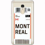 Силиконовый чехол BoxFace Xiaomi Redmi Note 4x Ticket Monreal (35032-cc87)
