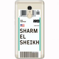 Силиконовый чехол BoxFace Xiaomi Redmi Note 4x Ticket Sharmel Sheikh (35032-cc90)