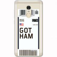 Силиконовый чехол BoxFace Xiaomi Redmi Note 4x Ticket Gotham (35032-cc92)