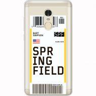Силиконовый чехол BoxFace Xiaomi Redmi Note 4x Ticket Springfield (35032-cc93)