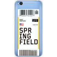 Силиконовый чехол BoxFace Xiaomi Redmi Go Ticket Springfield (36212-cc93)