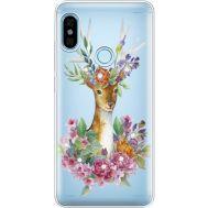 Силиконовый чехол BoxFace Xiaomi Redmi Note 5 / Note 5 Pro Deer with flowers (934970-rs5)