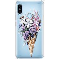 Силиконовый чехол BoxFace Xiaomi Redmi Note 5 / Note 5 Pro Ice Cream Flowers (934970-rs17)