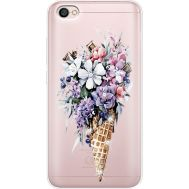Силиконовый чехол BoxFace Xiaomi Redmi Note 5A Ice Cream Flowers (935075-rs17)