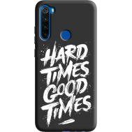 Силиконовый чехол BoxFace Xiaomi Redmi Note 8T hard times good times (38945-bk72)