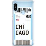 Силиконовый чехол BoxFace Xiaomi Redmi Note 5 / Note 5 Pro Ticket Chicago (34970-cc82)