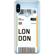 Силиконовый чехол BoxFace Xiaomi Redmi Note 5 / Note 5 Pro Ticket London (34970-cc83)