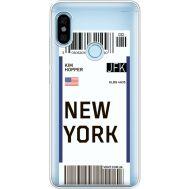 Силиконовый чехол BoxFace Xiaomi Redmi Note 5 / Note 5 Pro Ticket New York (34970-cc84)