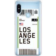 Силиконовый чехол BoxFace Xiaomi Redmi Note 5 / Note 5 Pro Ticket Los Angeles (34970-cc85)