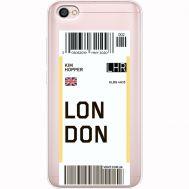 Силиконовый чехол BoxFace Xiaomi Redmi Note 5A Ticket London (35075-cc83)