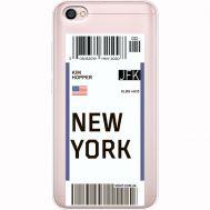 Силиконовый чехол BoxFace Xiaomi Redmi Note 5A Ticket New York (35075-cc84)