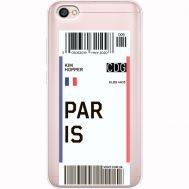 Силиконовый чехол BoxFace Xiaomi Redmi Note 5A Ticket Paris (35075-cc86)