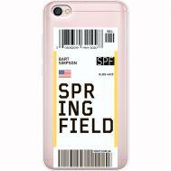 Силиконовый чехол BoxFace Xiaomi Redmi Note 5A Ticket Springfield (35075-cc93)