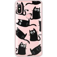 Силиконовый чехол BoxFace Xiaomi Redmi Note 6 Pro с 3D-глазками Black Kitty (35453-cc73)