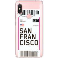 Силиконовый чехол BoxFace Xiaomi Redmi Note 6 Pro Ticket San Francisco (35453-cc79)