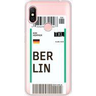 Силиконовый чехол BoxFace Xiaomi Redmi Note 6 Pro Ticket Berrlin (35453-cc80)
