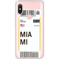 Силиконовый чехол BoxFace Xiaomi Redmi Note 6 Pro Ticket Miami (35453-cc81)