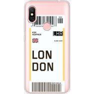 Силиконовый чехол BoxFace Xiaomi Redmi Note 6 Pro Ticket London (35453-cc83)