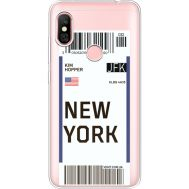 Силиконовый чехол BoxFace Xiaomi Redmi Note 6 Pro Ticket New York (35453-cc84)