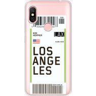Силиконовый чехол BoxFace Xiaomi Redmi Note 6 Pro Ticket Los Angeles (35453-cc85)