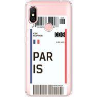 Силиконовый чехол BoxFace Xiaomi Redmi Note 6 Pro Ticket Paris (35453-cc86)