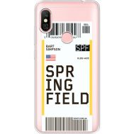 Силиконовый чехол BoxFace Xiaomi Redmi Note 6 Pro Ticket Springfield (35453-cc93)