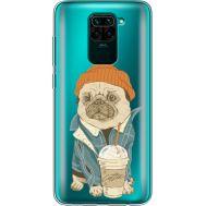 Силиконовый чехол BoxFace Xiaomi Redmi Note 9 Dog Coffeeman (39802-cc70)