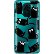 Силиконовый чехол BoxFace Xiaomi Redmi Note 9 с 3D-глазками Black Kitty (39802-cc73)