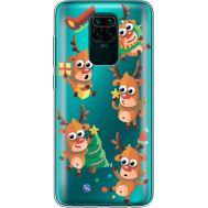 Силиконовый чехол BoxFace Xiaomi Redmi Note 9 с 3D-глазками Reindeer (39802-cc74)
