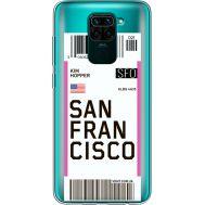 Силиконовый чехол BoxFace Xiaomi Redmi Note 9 Ticket San Francisco (39802-cc79)