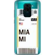 Силиконовый чехол BoxFace Xiaomi Redmi Note 9 Ticket Miami (39802-cc81)