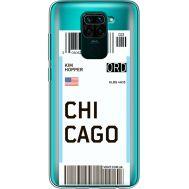 Силиконовый чехол BoxFace Xiaomi Redmi Note 9 Ticket Chicago (39802-cc82)