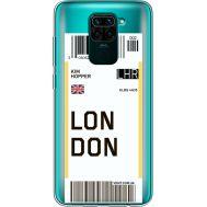 Силиконовый чехол BoxFace Xiaomi Redmi Note 9 Ticket London (39802-cc83)