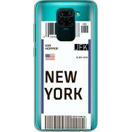 Силиконовый чехол BoxFace Xiaomi Redmi Note 9 Ticket New York (39802-cc84)