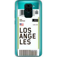Силиконовый чехол BoxFace Xiaomi Redmi Note 9 Ticket Los Angeles (39802-cc85)