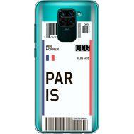 Силиконовый чехол BoxFace Xiaomi Redmi Note 9 Ticket Paris (39802-cc86)