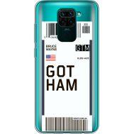 Силиконовый чехол BoxFace Xiaomi Redmi Note 9 Ticket Gotham (39802-cc92)