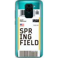 Силиконовый чехол BoxFace Xiaomi Redmi Note 9 Ticket Springfield (39802-cc93)
