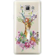 Силиконовый чехол BoxFace Samsung A700 Galaxy A7 Deer with flowers (935961-rs5)