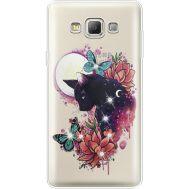 Силиконовый чехол BoxFace Samsung A700 Galaxy A7 Cat in Flowers (935961-rs10)