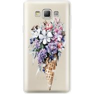 Силиконовый чехол BoxFace Samsung A700 Galaxy A7 Ice Cream Flowers (935961-rs17)