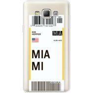 Силиконовый чехол BoxFace Samsung A700 Galaxy A7 Ticket Miami (35961-cc81)