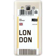 Силиконовый чехол BoxFace Samsung A700 Galaxy A7 Ticket London (35961-cc83)