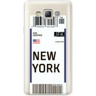 Силиконовый чехол BoxFace Samsung A700 Galaxy A7 Ticket New York (35961-cc84)