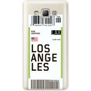Силиконовый чехол BoxFace Samsung A700 Galaxy A7 Ticket Los Angeles (35961-cc85)