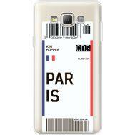 Силиконовый чехол BoxFace Samsung A700 Galaxy A7 Ticket Paris (35961-cc86)